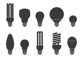 Light Bulb Icons Set