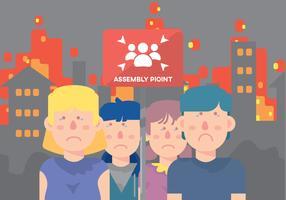 Sad Children On Assembly Point