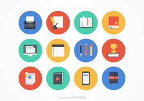 Flat Writing Vector Icons