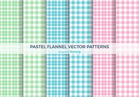 Pastel Flannel Vector Patterns