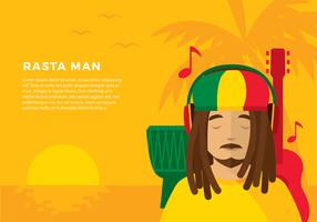 Head Phone Listening Reggae Free Vector