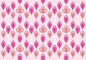 Pretty Pink Leaf Pattern Background