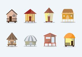 Tropical Cabana Free Vector Set