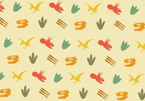 Vector patrón de huella de dinosaurio