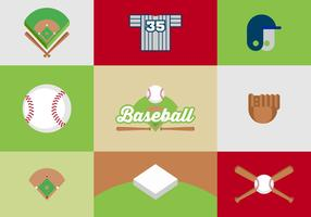 Free Baseball Diamond Vector Design