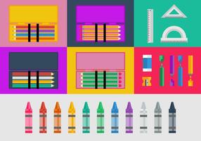 Free Pencil and Color Cases Vector