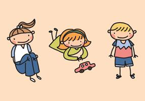 Cute Little Kid Vectors