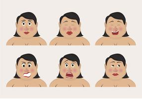 Curvy Woman Emoticons