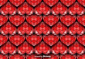 Geometric Hearts Seamless Vector Pattern