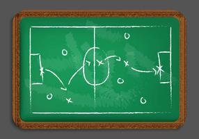 Chalkboard Playbook Vector