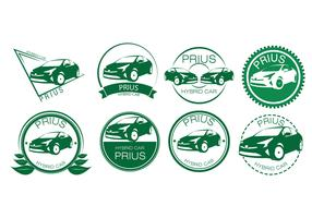 Free Hybrid Car Badges Vector