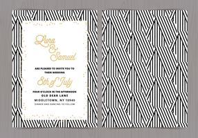 Vector Black and White Wedding Invite