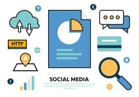 Free Social Media Vector Illustration