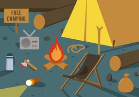 Free Camping Vector Illustration