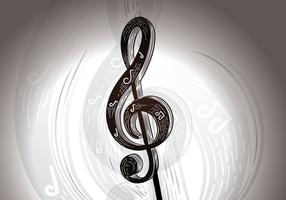 Free Musical Notation Key Vector Illustration