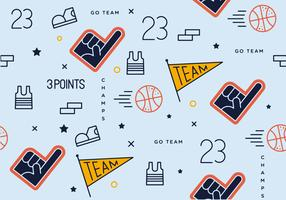 Free Basket Ball Pattern Vector