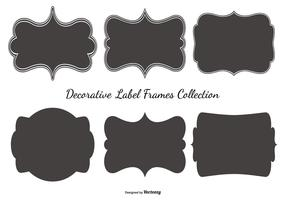 Blank Label Frames Collection