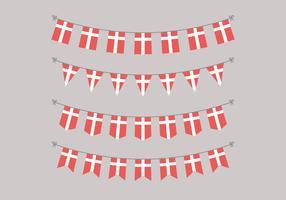 Garlands Of Danish Flags