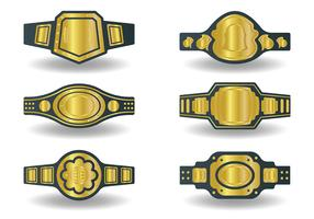 Free Championship Belt Icons Vector