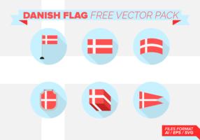 Danish Flag Free Vector Pack