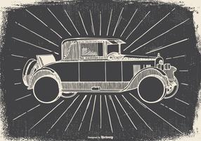 Sketchy Vintage Car Illustration