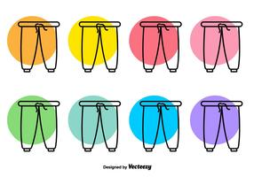 Sweat Pants Vector Line Icons