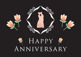 Simple Anniversary Card Vector