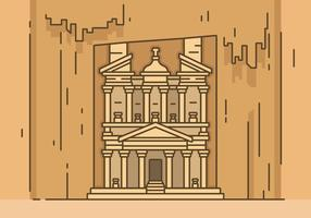 Ancient Petra Vector Illustration