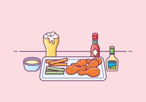 Free Buffalo Wings Illustration