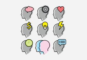 Headshot Icon Vector Set
