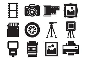 Free Photography and Camera Icons Vector