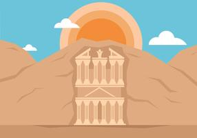 Petra Landmark Illustration