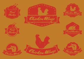 Vintage Chicken Wing Badge