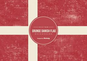 Grunge Style Danish Flag