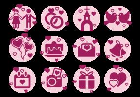 Boda Icons Vector