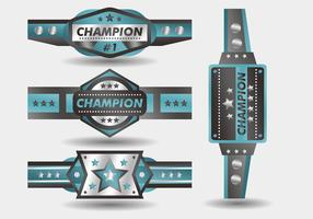 Blue Championship Belt Vector Design
