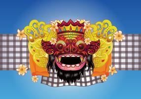 Barong Bali Vector Background