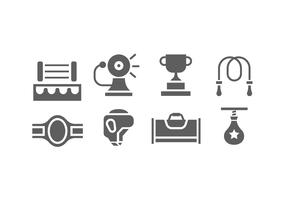 Flat Boxing Icon Vector Pack