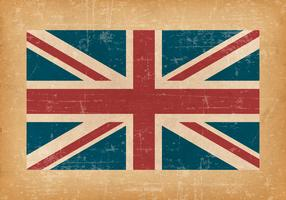 British Flag On Grunge Background