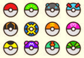 Set Of Poke Ball Pokemon