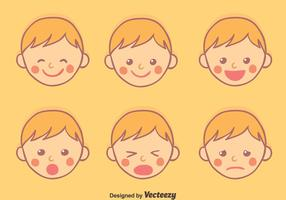 Hand Drawn Baby Face Expression vector