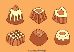 Hand Drawn Chocolate Snack Vectors