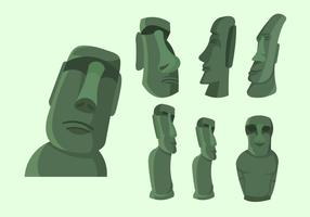 Easter Island Statue Illustration Vector