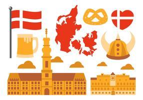 Free Danish Element Vector