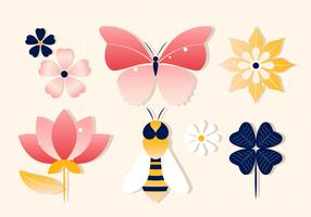 Free Spring Vector Insects