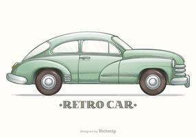 Colored Hand Drawn Sketch Retro Car Vector