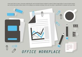 Free Office Workplace Vector Illustration