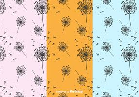 Hand Drawn Blowball Pattern Vector
