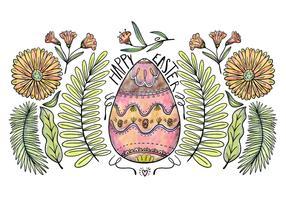 Decorative Easter Egg Background Vector