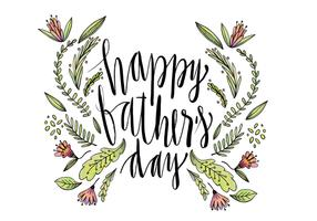 Cute Hand Drawn Father's Day Lettering Vector